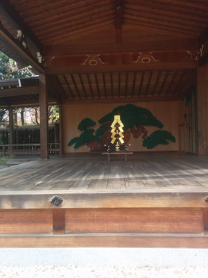 22 a stage at the shrine/temple; I think they perform Kabuki there
