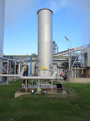 biogas flare German