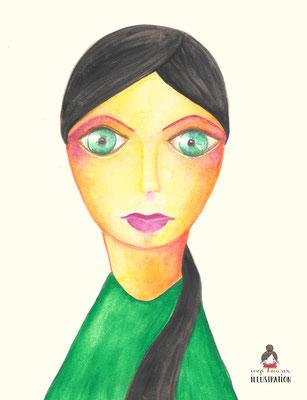 Frau vom grünen Planeten