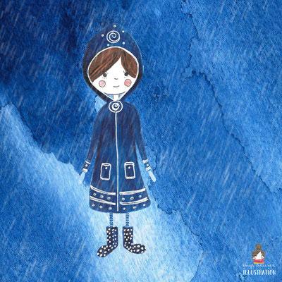 #daskartenmaedchen im Regenmantel