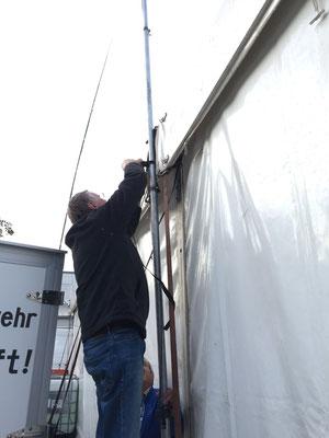 Antennenaufbau für das DMR-Relais