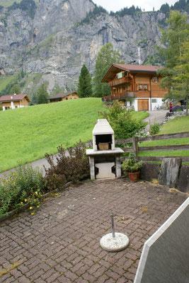 Gartenterrasse mit Cheminée
