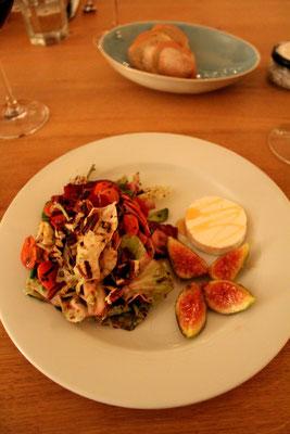 Herbstsalat mit Frischkäse