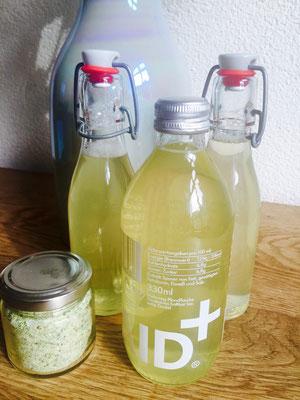 Basilikum-Zitronen-Sirup