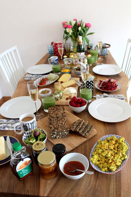 vegetarischer Brunch