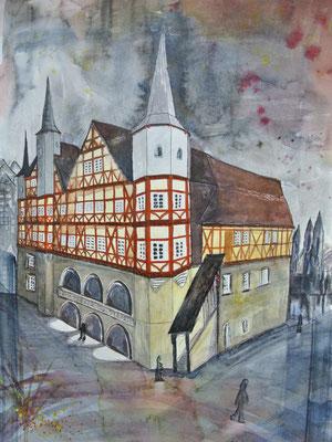 Rathaus Duderstadt, Aquarell