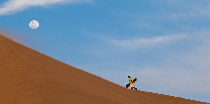 Sandboarder bei Ica