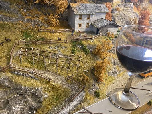 Wein ist beim Weinbau ein nicht zu unterschätzendes Arbeitsmittel ;-).