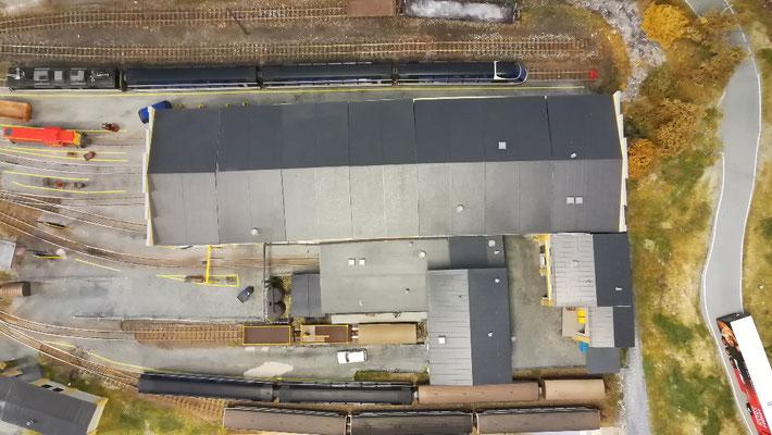 Google-Maps-Satellitenbild  der Depotanlagen.