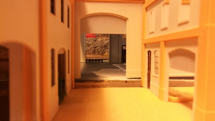 Detailansicht vom hinteren Werkstatthof.