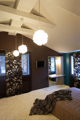 chambre contemporaine aux couleurs délicates