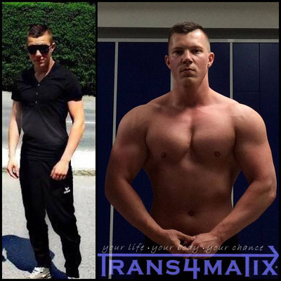 Auch Marco Schorn (18) konnte mit der Hilfe von Trans4matix einiges an Muskelmasse aufbauen! Wir gratulieren unserem jungen Athleten zu seiner gelungenen Bodytransformation und werden ihn weiterhin unterstützen und behilflich sein!