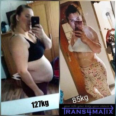 Unsere Kundin Sabrina Schreiber zeigt uns hier was alles mit dem T4X Trainings & Ernährungskonzept + T4X Whey Protein + einen eisernen Willen und ein wenig Motivation alles möglich ist! Wir gratulieren! Weiter so!