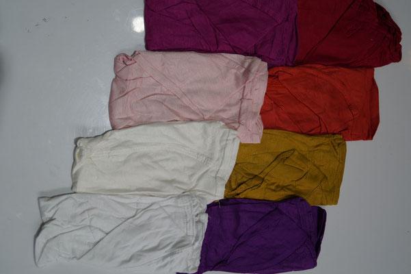 Lila-Senf-Teracotta-Rot-Pink-Rosa-Crem-Weiß