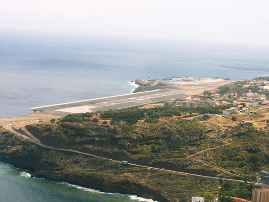 Flughafen-Landebahn in Funchal - Madeira