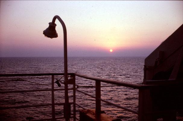 Abendstimmung auf dem Meer - Norwegen