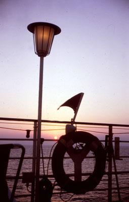 Sonnenuntergang auf dem Meer - Norwegen