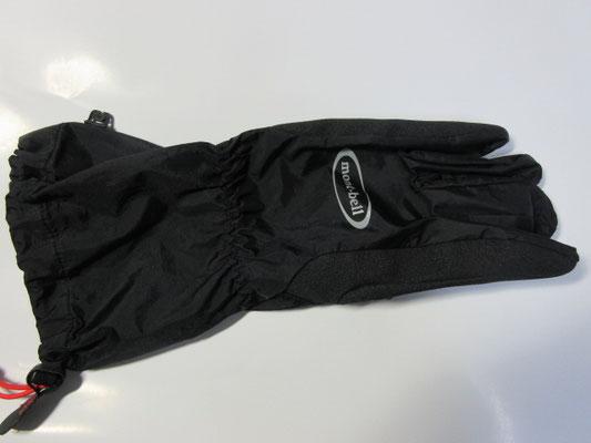 ①モンベルの手袋(アウターグローブ)黒・左のみ