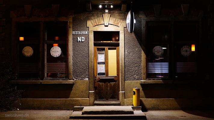 Eingang des alten Restaurant Linde