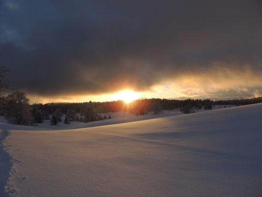 Coucher de Soleil, vue depuis le Centre Nature Divine