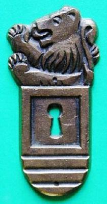 Selbst gestaltetes Schlüsselschild in Bronce