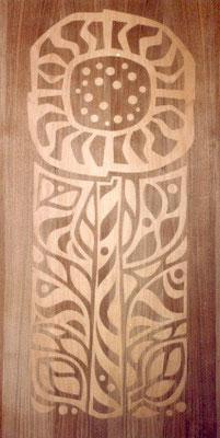 Wechselblatt - Intarsie für Schrank Sonnenblume