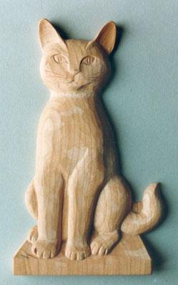 Relief Katze