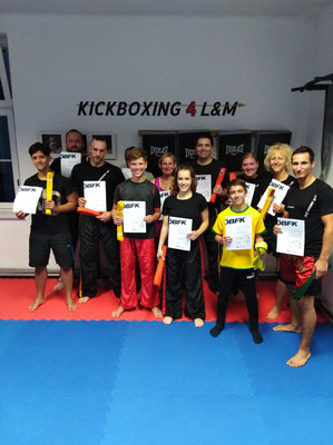 Kickboxen, Wiener Neustadt, Kickboxing 4 L&M, Training, Gürtelprüfung,