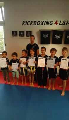 Kickboxen, Wiener Neustadt, Kickboxing 4 L&M, Training, Gürtelprüfung, Youngsters, Kinder