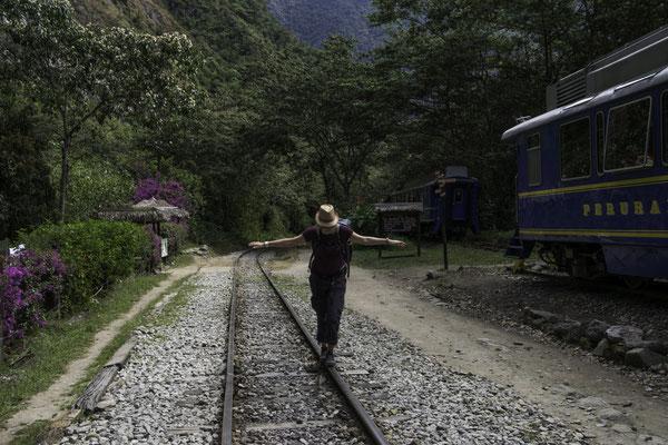 Wanderung dem Gleis entlang