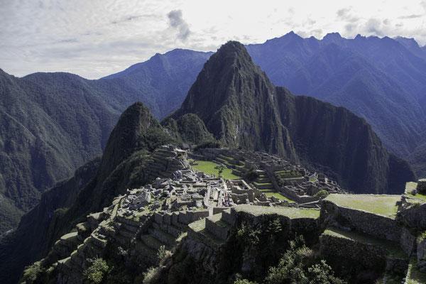 Machu Picchu in der Morgensonne