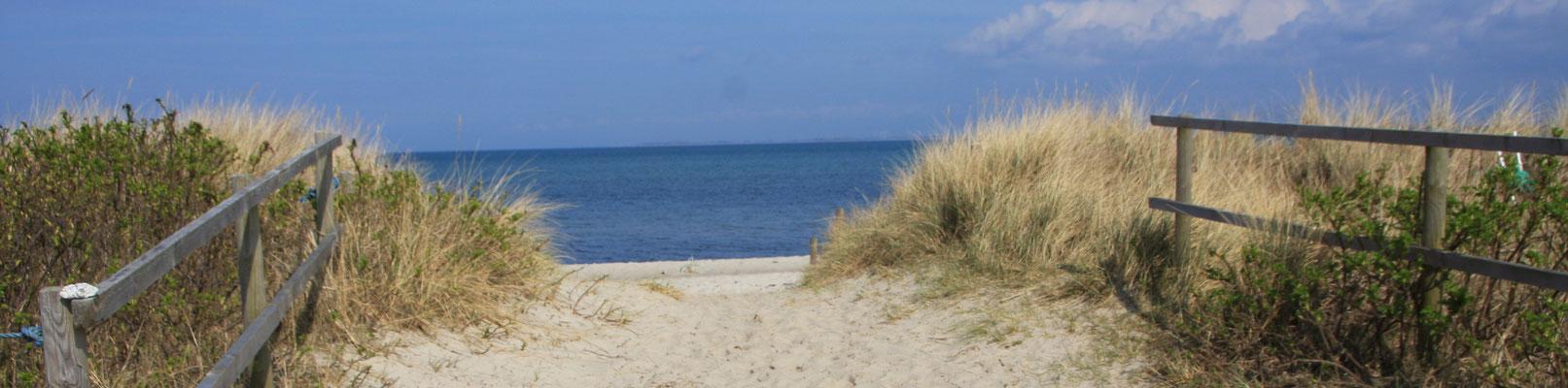 Naturbelassene Strandaufgänge