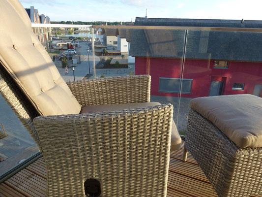 2.Balkon mit Blick auf den Binnensee und Beachmotellake