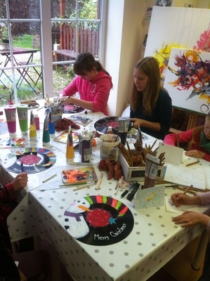 Samstags-Atelierkreis in der Malschule Flitzepinsel für Kinder von 7 bis 15 Jahren