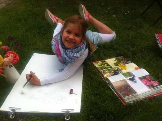 Im Sommer malen wir auch gerne mal draussen! Malunterricht, Malschule, Kunstschule