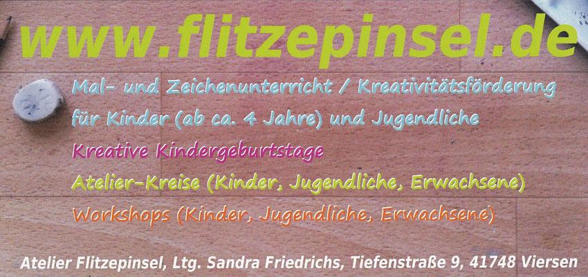 Malunterricht in Viersen, Mönchengladbach, Malschule, Kunstschule Flitzepinsel