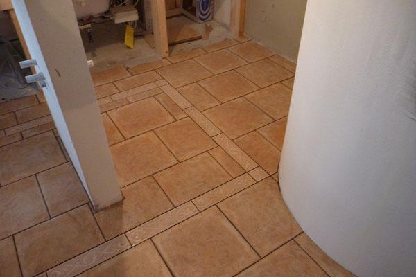 Mosaikboden Badezimmer Einfamilienhaus