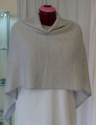 "Kleiner Poncho Alpaka /Maulbeerseide/Kid Mohair ""Drops Lace/Kid Mohair/Glitzer"""