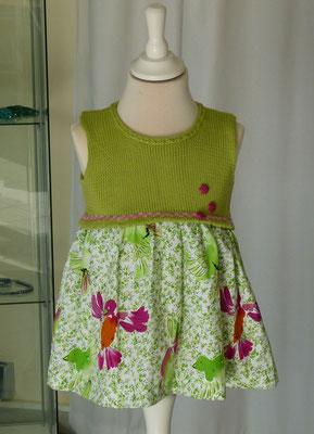 """Kinderkleid reine Baumolle """"Drops Safran"""" Stoff reine Baumwolle Design by SuZi'sWollwerkstatt"""
