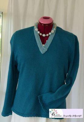 """Sportlicher Pullover Bio Baumwolle """"Bio Sesia""""Design by SuZi's Wollwerkstatt"""