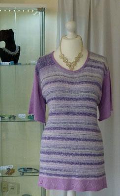 """Kurzarm Pullover reines Zuckerrohr """"Lana Gatto Sugar"""" Design by SuZi's Wollwerkstatt"""