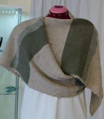 """Warme Stola Merino Yak """"Laines du Nord Merino Yak"""" Design by SuZi's Wollwerkstatt"""