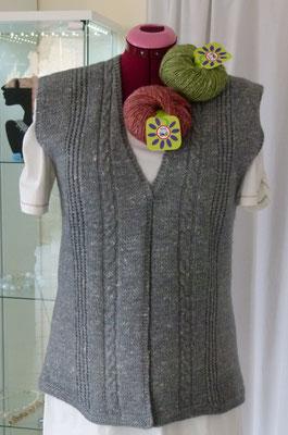 """Weste Wolle- Hanfgemisch """"Filnda Lacarnapa"""" Design by SuZi's Wollwerkstatt"""