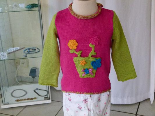 "Kinderpulli Baumwolle ""Drops Safran"" Design by SuZi's Wollwerkstatt"""