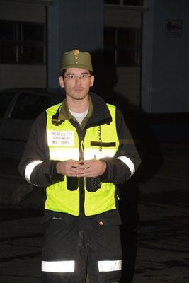 Einsatzleiter und Kommandant OBI Georg Crepaz