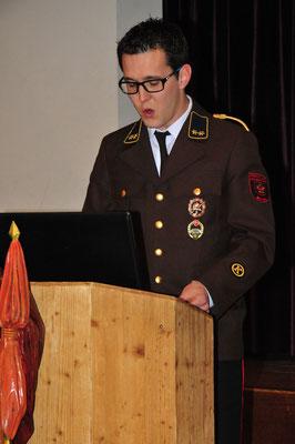 Kassier OV Florian Zitt präsentiert den Kassabericht