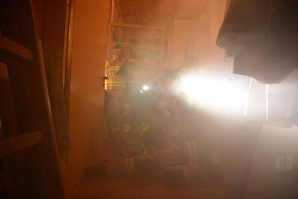 Vordringen in den Brandraum