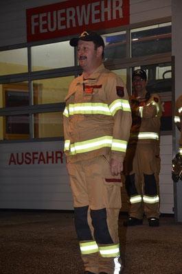 Kommandant der Feuerwehr Grinzens OBI Helmut Buchrainer