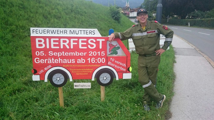 Obermaschinist OBM Markus Hollaus ist sichtlich stolz auf sein Werk