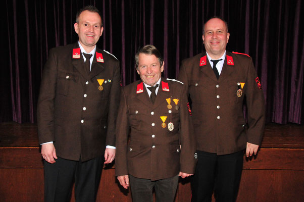 BM Patrick Stauder, LM Johann Pfurtscheller und HFM Michael Stauder